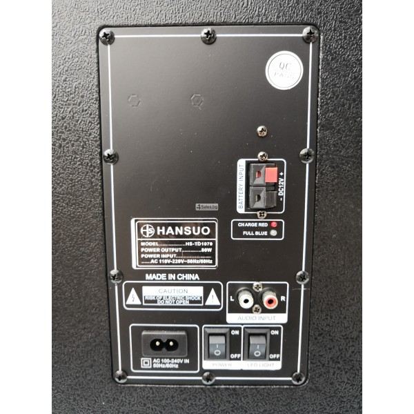 Avcrowns HS-TD1070 Парти спийкър с Bluetooth безжичен микрофон - 2X10 инча 9