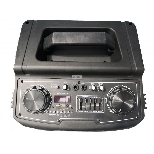 Avcrowns HS-TD1070 Парти спийкър с Bluetooth безжичен микрофон - 2X10 инча 12