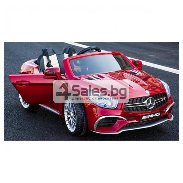 Детска кола с акумулаторна батерия детайлна реплика на Mercedes Benz SL65 AMG 7