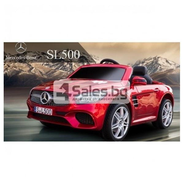 Детска кола с акумулаторна батерия детайлна реплика на Mercedes Benz SL500 AMG