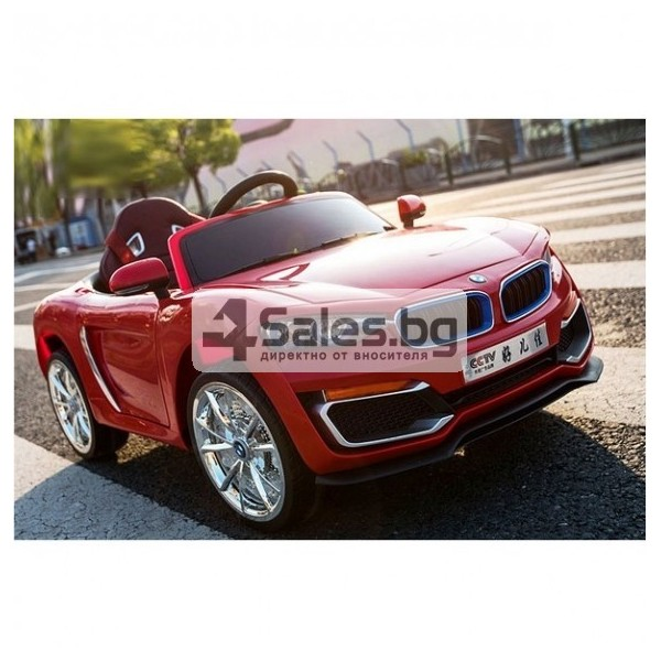 Ефектна детска кола с акумулаторна батерия детайлна реплика на BMW 6688