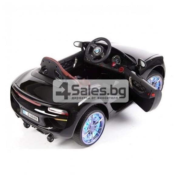 Ефектна детска кола с акумулаторна батерия детайлна реплика на BMW 6688 3