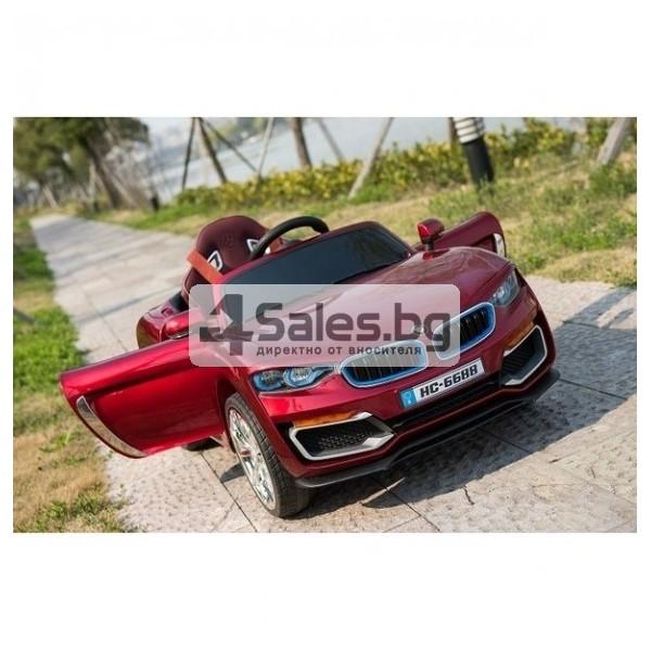 Ефектна детска кола с акумулаторна батерия детайлна реплика на BMW 6688 8