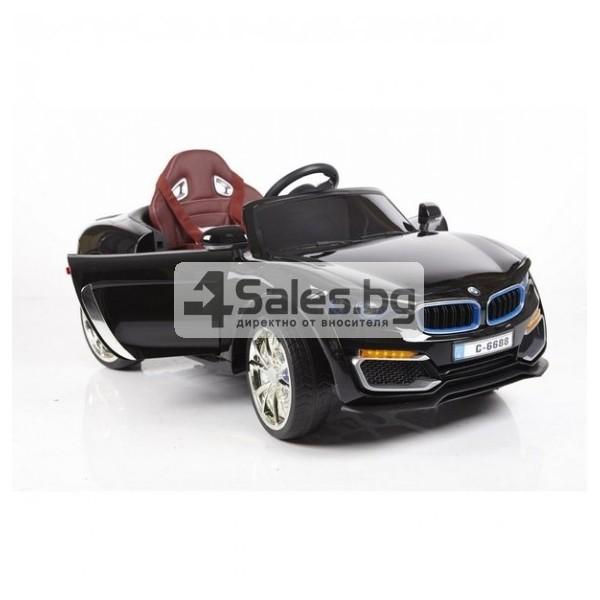 Ефектна детска кола с акумулаторна батерия детайлна реплика на BMW 6688 11