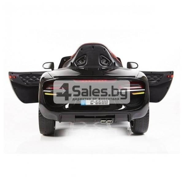 Ефектна детска кола с акумулаторна батерия детайлна реплика на BMW 6688 12