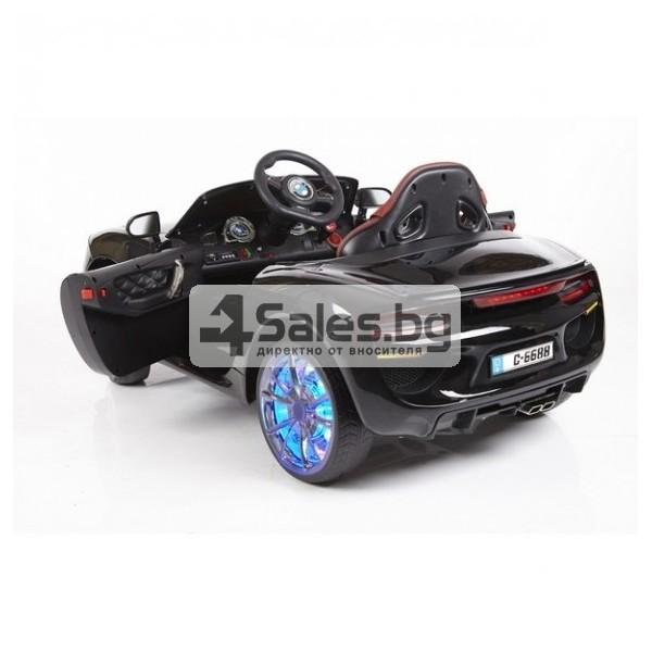 Ефектна детска кола с акумулаторна батерия детайлна реплика на BMW 6688 14