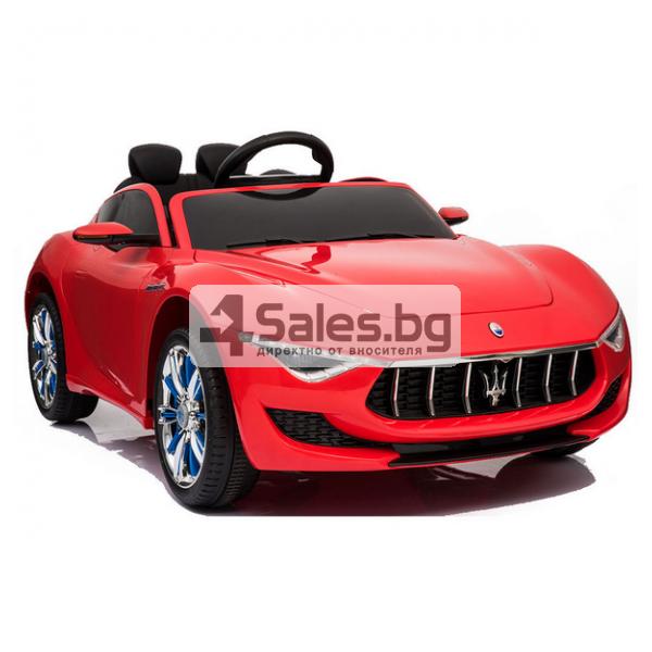 Ефектна детска кола с акумулаторна батерия детайлна реплика на Maserati Alfieri 2