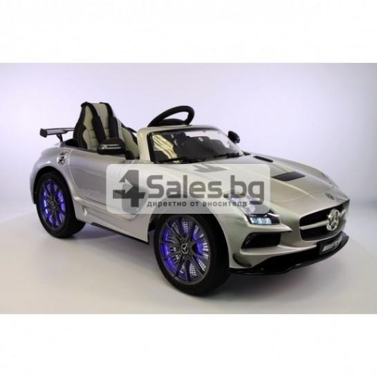Детска кола с акумулаторна батерия детайлна реплика на Mercedes Benz SLS AMG
