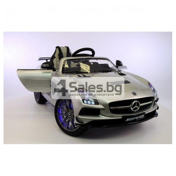 Детска кола с акумулаторна батерия детайлна реплика на Mercedes Benz SLS AMG 2