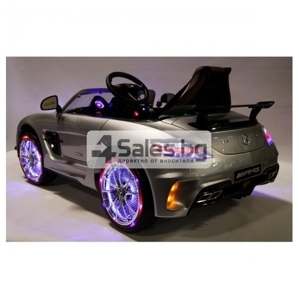 Детска кола с акумулаторна батерия детайлна реплика на Mercedes Benz SLS AMG 12