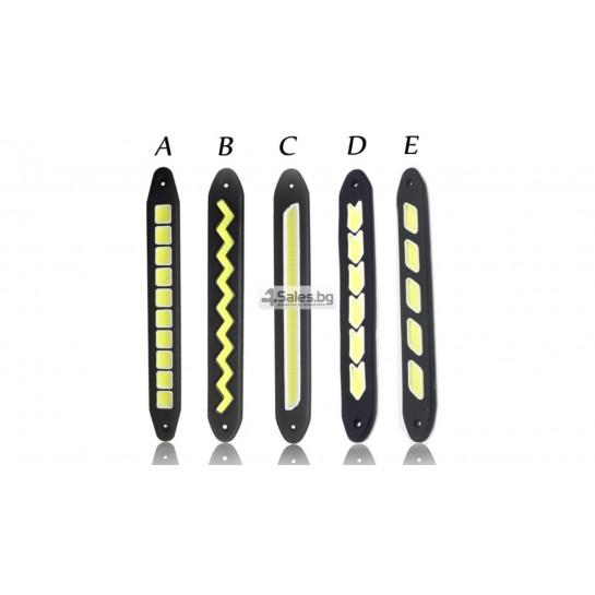 Универсална Силиконова огъваща се дневна светлинна лента XZ-COB CAR DIS LED3