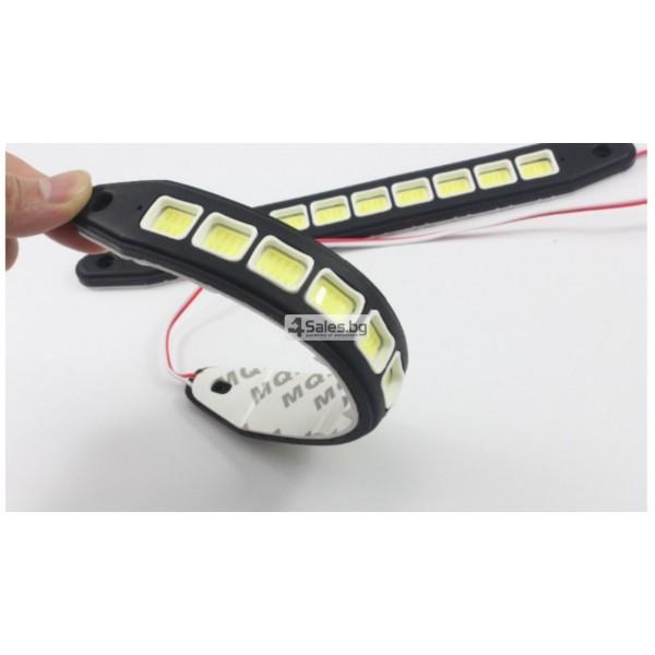 Универсална Силиконова огъваща се дневна светлинна лента XZ-COB CAR DIS LED3 2