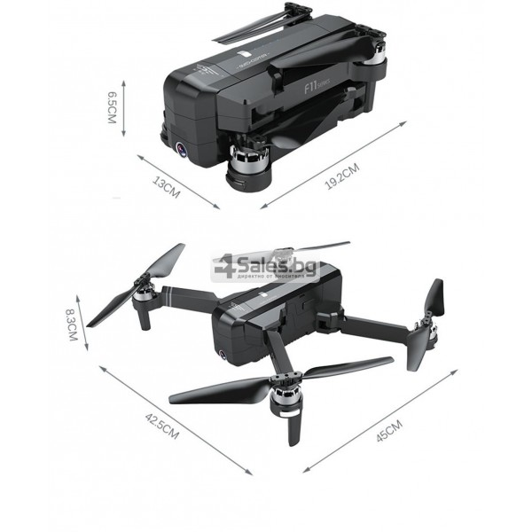Сгъваем Дрон SJRC F11 камера 1080P GPS 5G WiFi FPV RC с дълъг полет 2