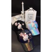 Дамска шапка с апликация фламинго DZ K-20