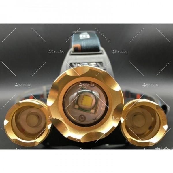 Водоустойчив, професионален челник с три силни фара и zoom функция FL30 13