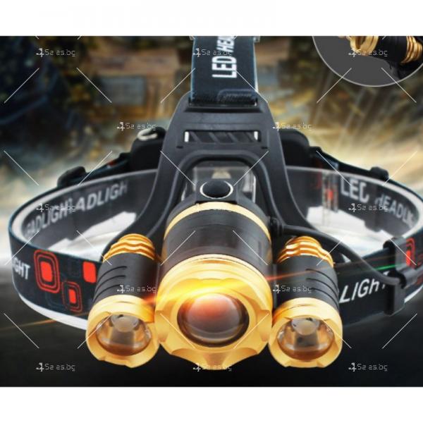 Водоустойчив, професионален челник с три силни фара и zoom функция FL30 14