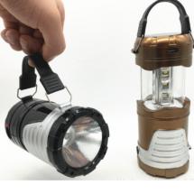 Преносим фенер с LED светлина и соларно зареждане лампа за къмпинг CAMP-LAMP-2