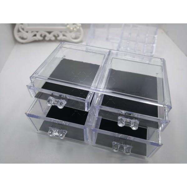 Функционален прозрачен органайзер за гримове в две части TV104 11