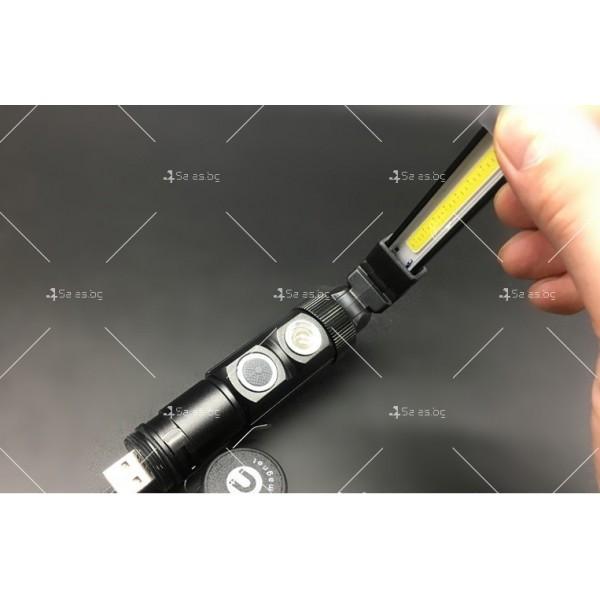 Сгъваем фенер с два вида светлини USB акумулаторно аварийно осветление 3