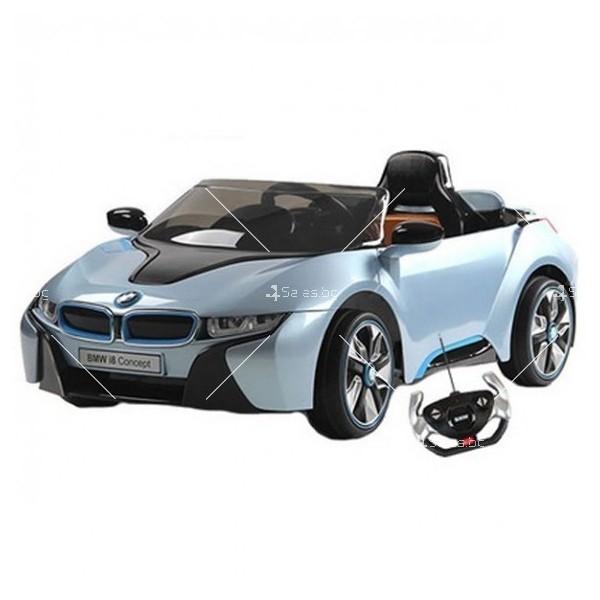 Едноместна детска кола с акумулаторна батерия лицензиран модел на BMW I8 2