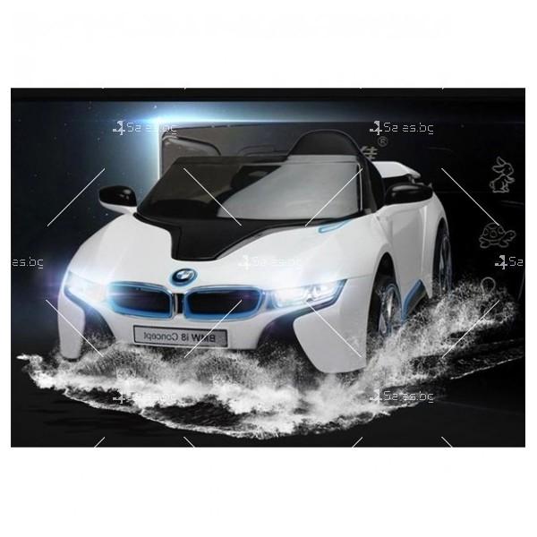 Едноместна детска кола с акумулаторна батерия лицензиран модел на BMW I8 7