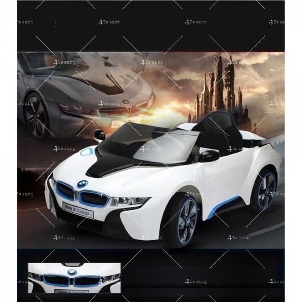 Едноместна детска кола с акумулаторна батерия лицензиран модел на BMW I8 10