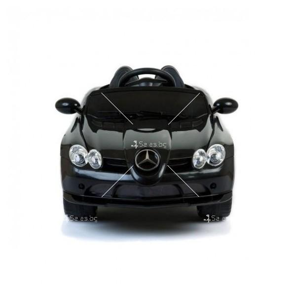 Двуместна детска кола с акумулаторна батерия Mercedes SLR 722S с меки гуми 5