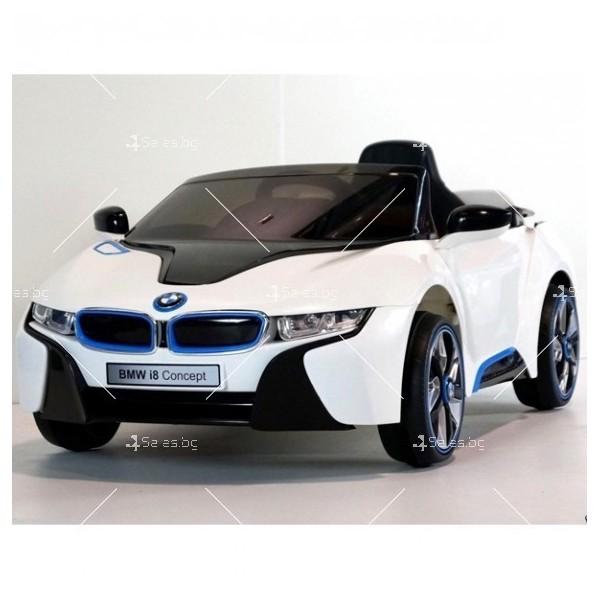 Едноместна детска кола с акумулаторна батерия лицензиран модел на BMW I8 6