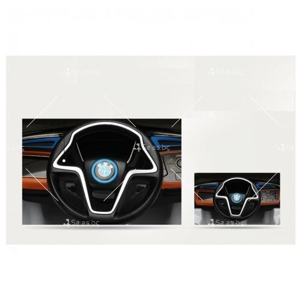 Едноместна детска кола с акумулаторна батерия лицензиран модел на BMW I8 8