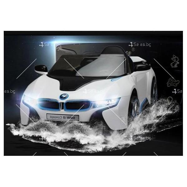 Едноместна детска кола с акумулаторна батерия лицензиран модел на BMW I8 11