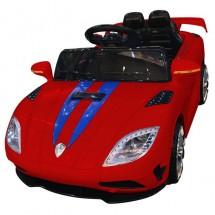 Детска кола с акумулаторна батерия спортен модел в наситен син цвят
