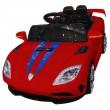 Детска кола с акумулаторна батерия спортен модел в наситен син цвят 1