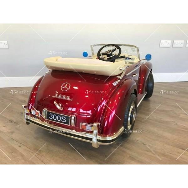 Детска кола с акумулаторна батерия детайлна реплика на Mercedes 300S 7