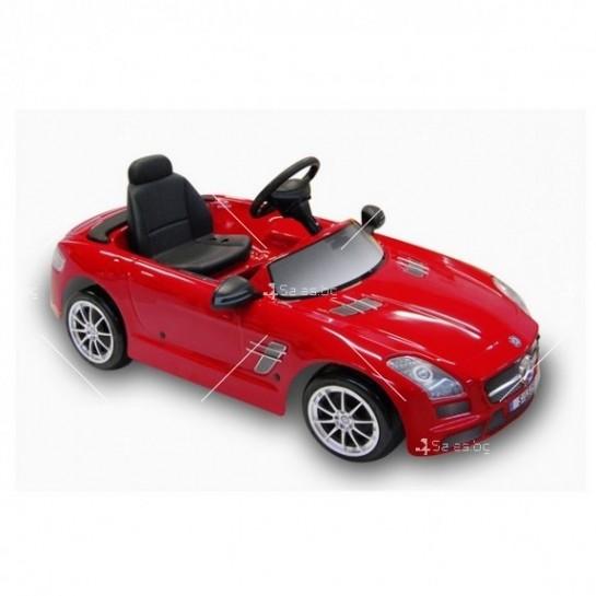 Детска кола с акумулаторна батерия луксозен детайлна реплика на Mercedes Sls Amg