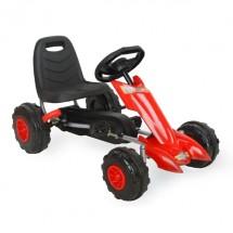 Детска картинг кола с помпащи се гуми и педали - 12 месеца гаранция