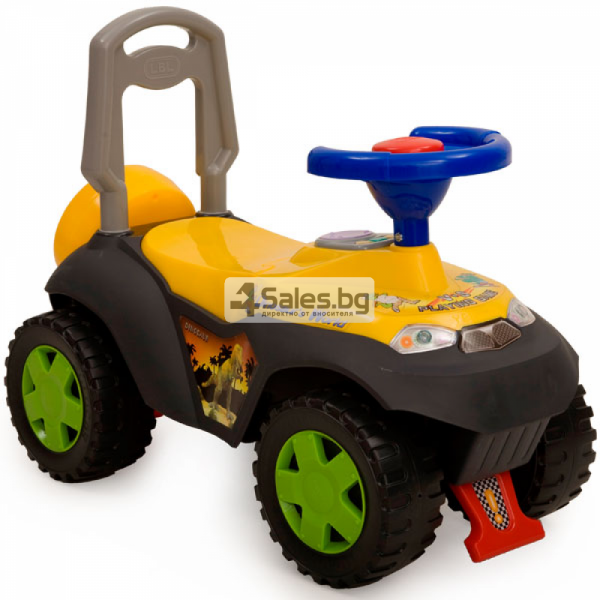 Детска кола за избутване с подвижно кормило и звукови ефекти DINO TOLOCAR 3