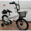 Велосипед за деца с помощни колела, кош за багаж и 16 инчови гуми 2