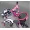 Велосипед за деца с помощни колела, кош за багаж и 16 инчови гуми 3