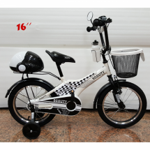 Детски велосипед с помпащи се гуми, огледало , звънец и багажник Scoutt