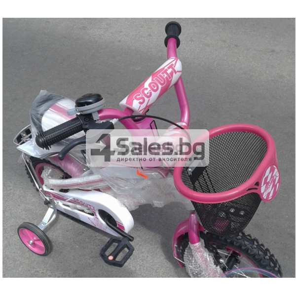 Детски велосипед с помпащи се гуми, огледало , звънец и багажник Scoutt 5