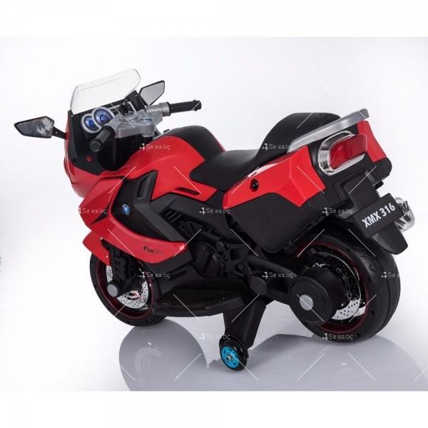 Акумулаторен мотор с меки гуми и кожена седалка XMX 316 12V 3