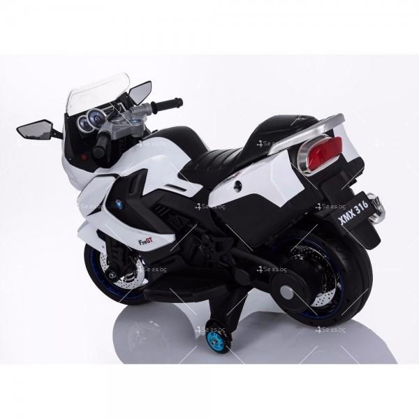 Акумулаторен мотор с меки гуми и кожена седалка XMX 316 12V 4