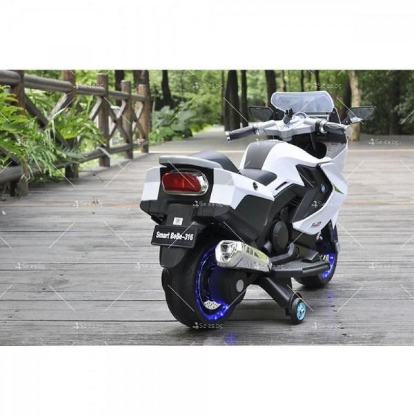Акумулаторен мотор с меки гуми и кожена седалка XMX 316 12V 7