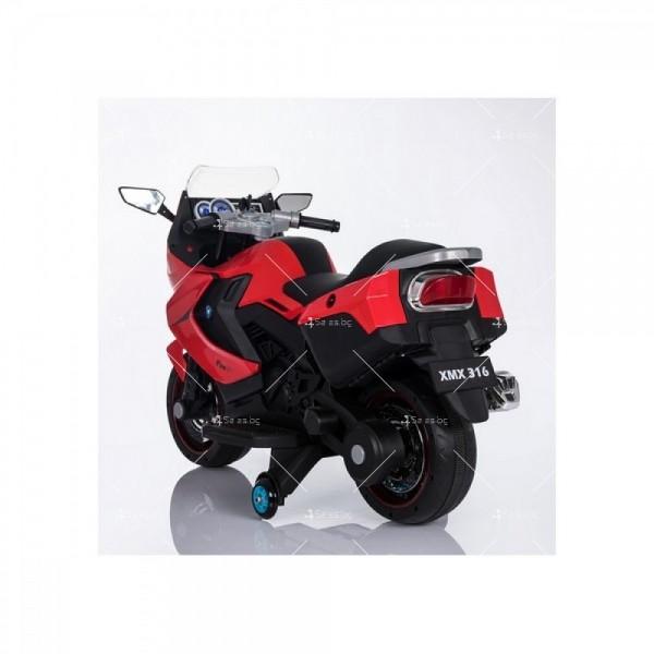 Акумулаторен мотор с меки гуми и кожена седалка XMX 316 12V 10