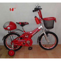 Детски велосипед с кош и помощни колела Spiderman с 12/14/16/20 цола гуми