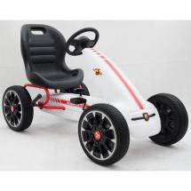 Картинг с меки гуми лицензиран модел ABARTH PEDAL GO KART