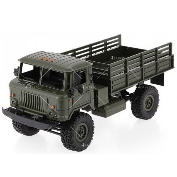 Акумулаторно ретро камионче с ремарке ARMY TRUCK WPL TOY CAR5