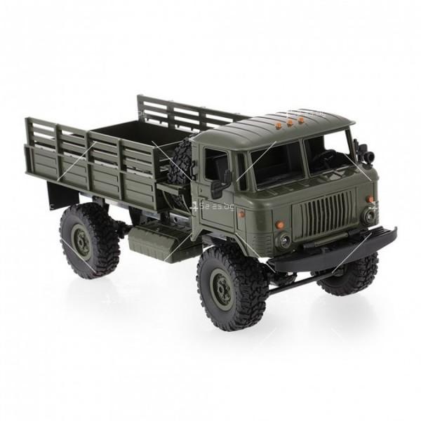 Акумулаторно ретро камионче с ремарке ARMY TRUCK WPL TOY CAR5 2