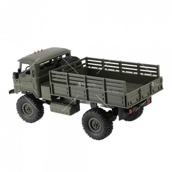 Акумулаторно ретро камионче с ремарке ARMY TRUCK WPL TOY CAR5 3