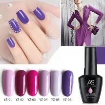 "Гел лак за нокти AS Anothersexy, колекция ""Violet series"" в 6 цвята ZJY21"